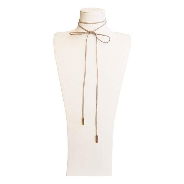 Halsband Choker Ginny beige/gold