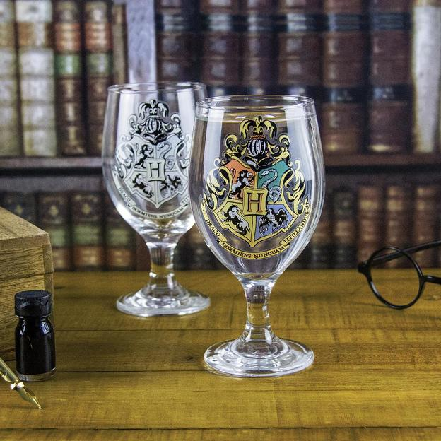 Harry Potter Hogwarts Glas Wappen mit Thermoeffekt
