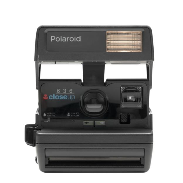 Polaroid Instant 600 Kamera schwarz/silber