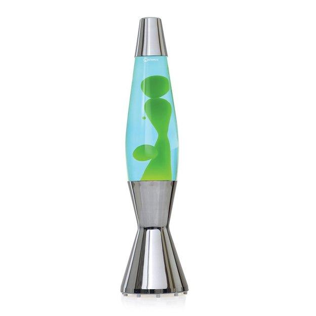 Astro Baby Lavalampe Chrom grün in blau LM