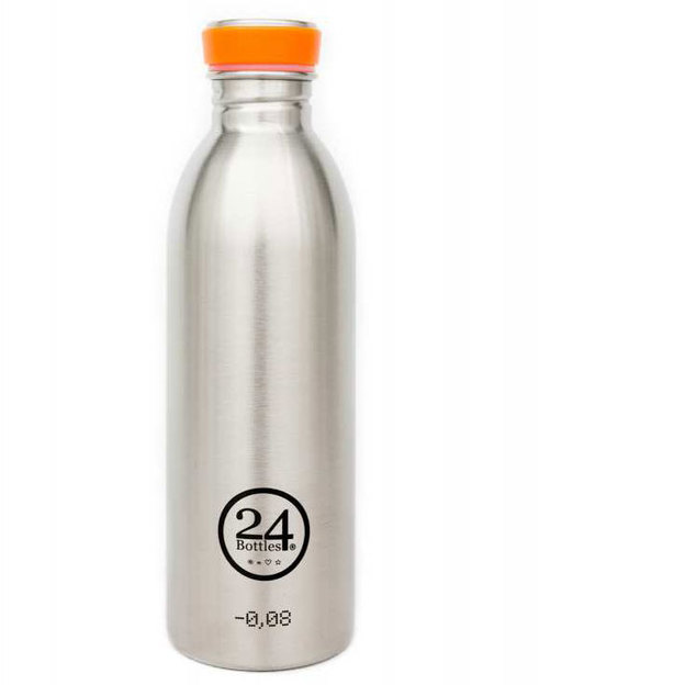 Trinkflasche 24bottles steel