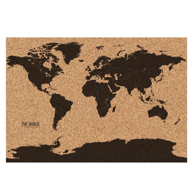 Weltkarte aus Kork
