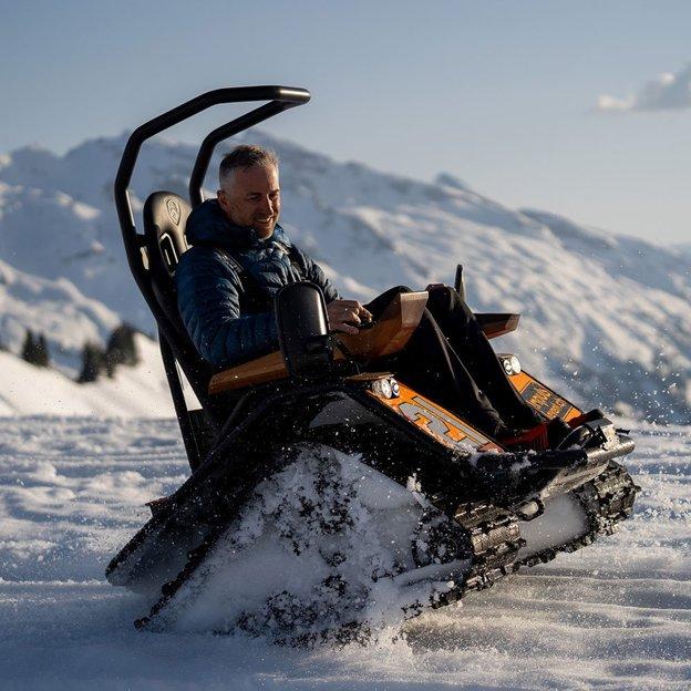 Excursion en Ziesel sur la neige à Hoch-Ybrig