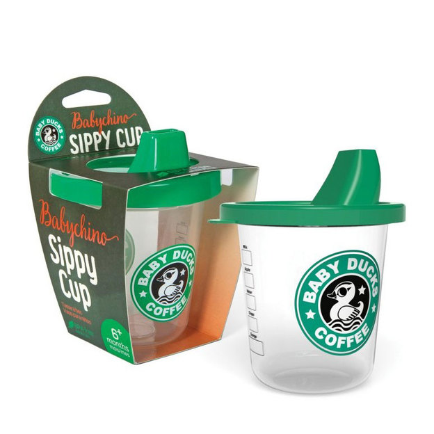 Gobelet à bec pour bébé Baby Ducks Coffee