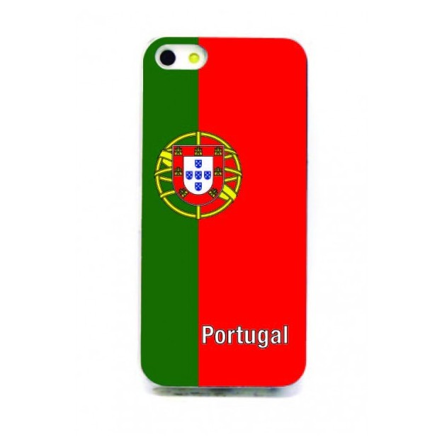 Housse LED iPhone 5 Nations foot Portugal