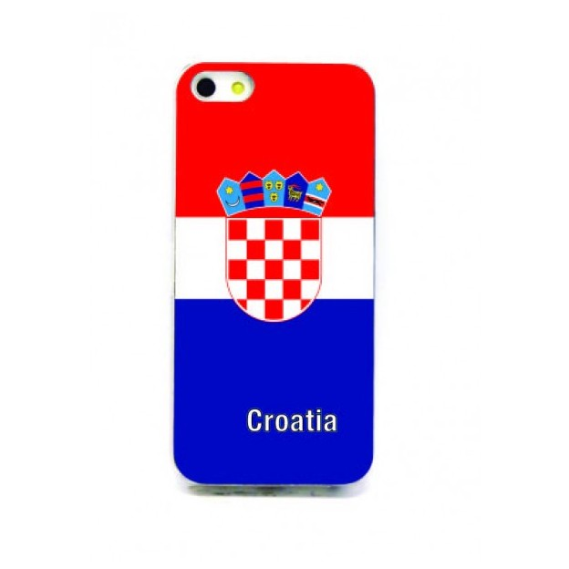 Housse LED iPhone 5 Nations foot Croatie