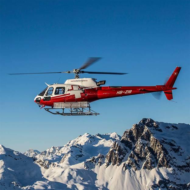 Tour en hélicoptère et séjour spa à Pontresina (2 pers.)