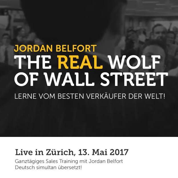 Den ECHTEN Wolf of Wallstreet treffen - Jetzt 2 First Class Tickets zum Preis von 1
