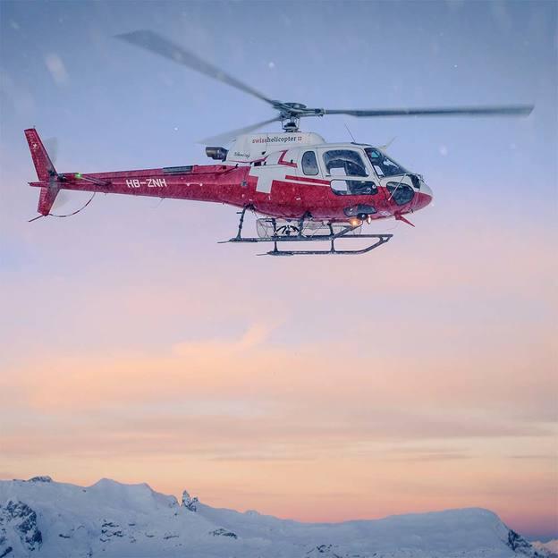 Helikopterflug und Übernachtung im Berghotel Leiterli Lenk