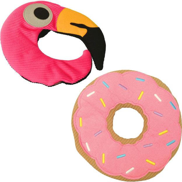 Wärmekissen Donut und Flamingo