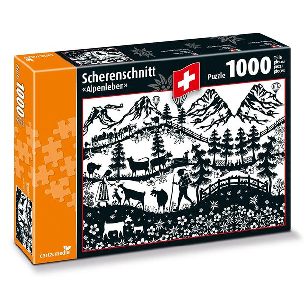 Schweizer Scherenschnitt - Puzzle 1000-teilig