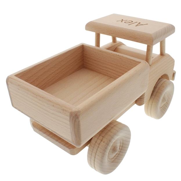 Voiture ou camion en bois personnalisé par gravure