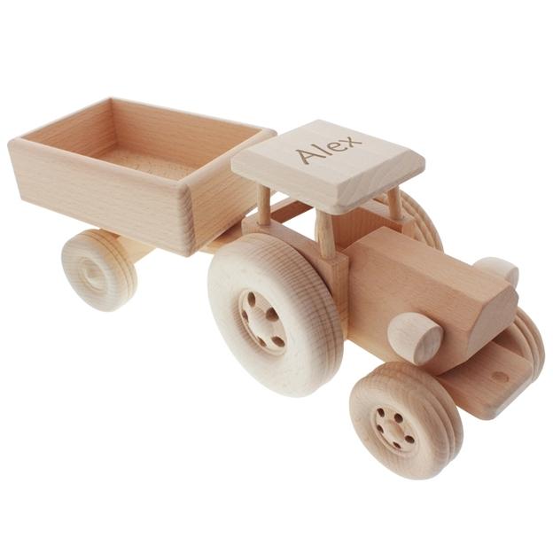 Tracteur en bois personnalisable par gravure