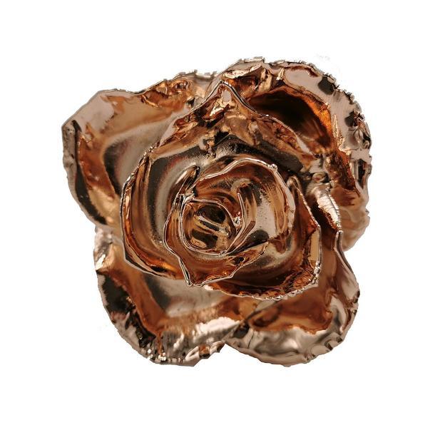 Rose en or rose 43 cm