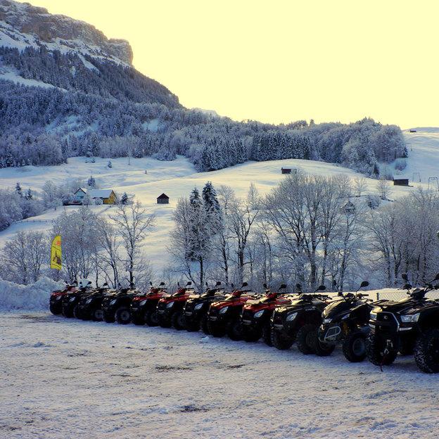 Quad Tour im Schnee mit Fondue-Plausch