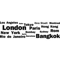 Sticker mural personnalisé Villes du monde