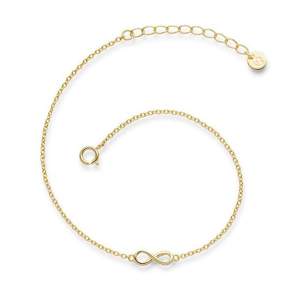 Armband Infinity Sterling Silber gelbvergoldet