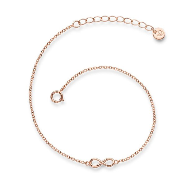 Armband Infinity Sterling Silber roségold