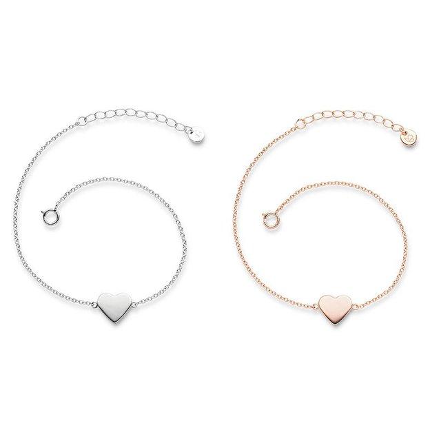 Bracelet Coeur en argent sterling