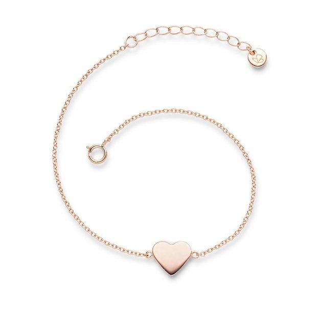 Armband Herz Sterling Silber rosévergoldet