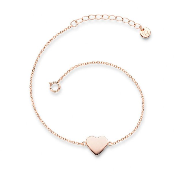 Bracelet Coeur en argent sterling, couleur or rose