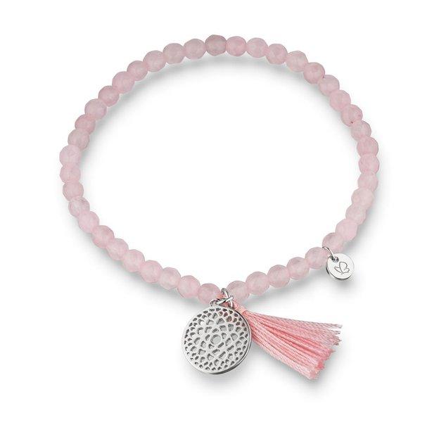 Bracelet Chakra Couronne - Quartz rose