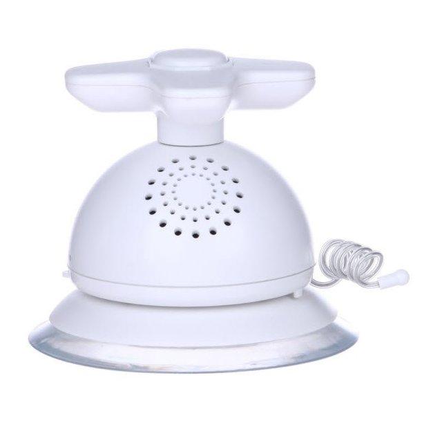 Radio de douche robinet blanc