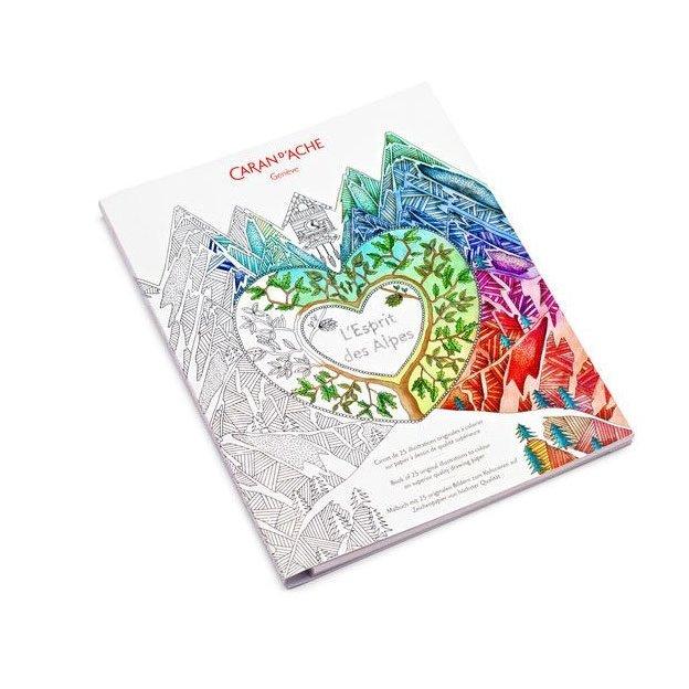 Caran d'Ache Malbuch Esprit Des Alpes für Erwachsene