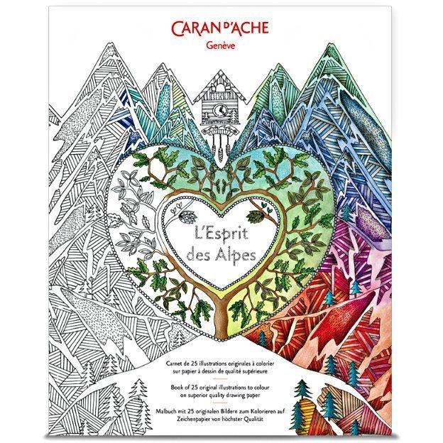 Caran d'Ache Carnet coloriage Esprit Des Alpes