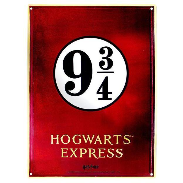 Harry Potter Blechschild 3/4 Hogwarts Express