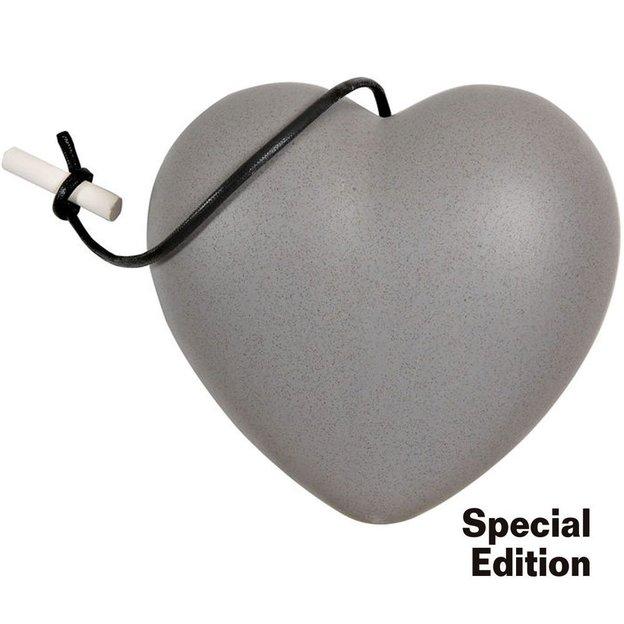 Keramik Herz Grigio zum selber beschriften