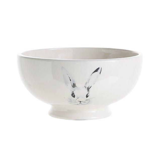 2 bols au motif de lapin de Pâques