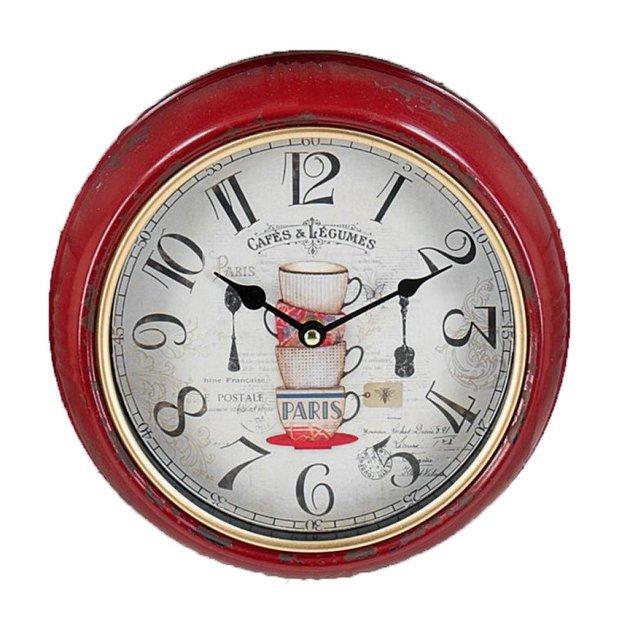 Horloge murale rouge Paris
