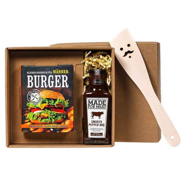 Burger Handbuch und BBQ Sauce Geschenkbox