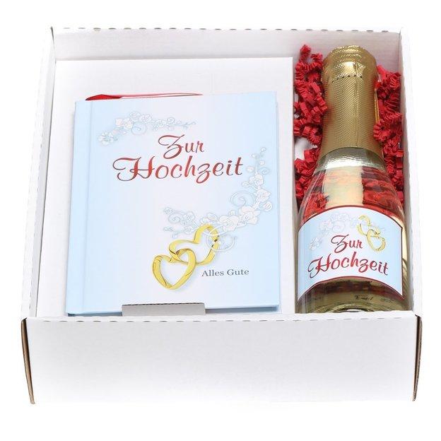 Sektbox mit Büchlein Zur Hochzeit