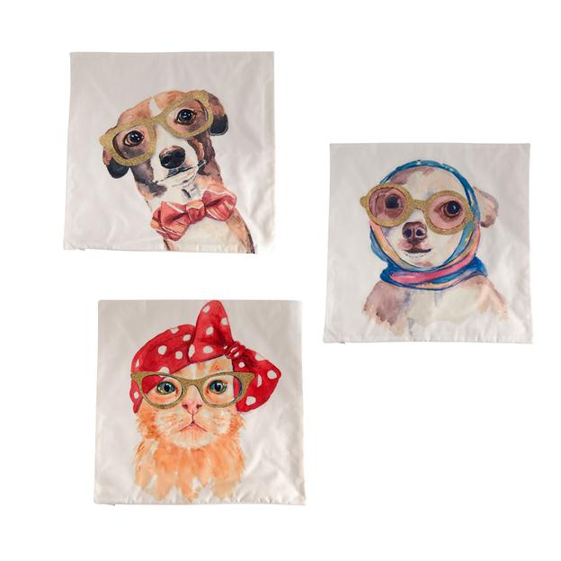 Kissenhüllen Crazy Pets 3er Set