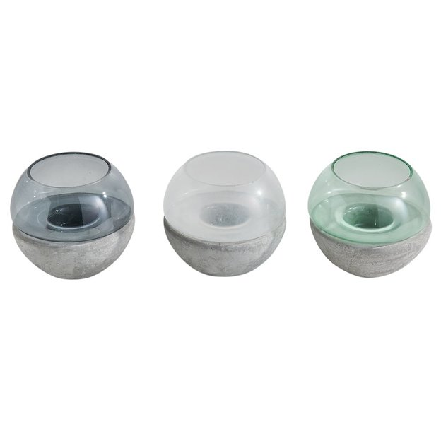 Set de 3 bougeoirs Lumen ronds