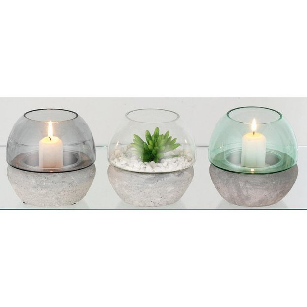 Set de 3 bougeoirs  Lumen