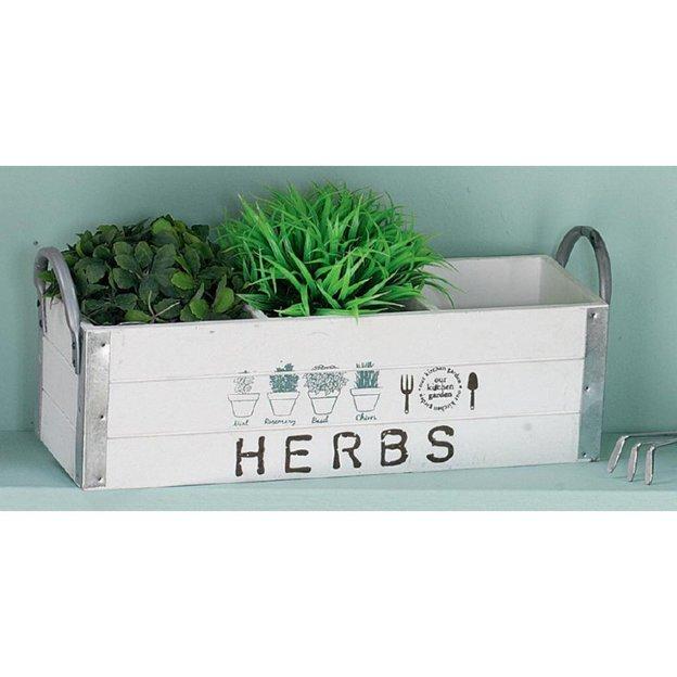 Pflanzen und Kräuterkiste Herbs