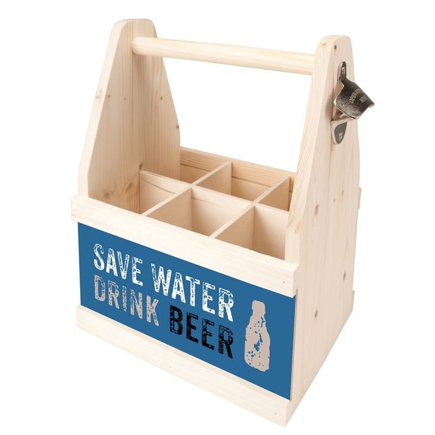 "Porte-bouteilles 6 pack ""Save water drink beer"""