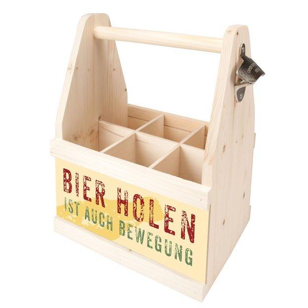 "Porte-bouteilles 6 pack ""Bier holen ist auch Bewegung"""