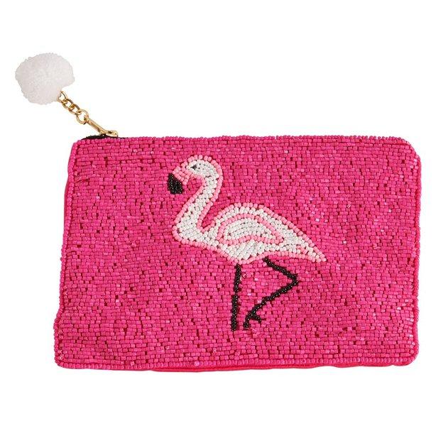 Kosmetiktaschen mit Perlen Flamingo 3er Set