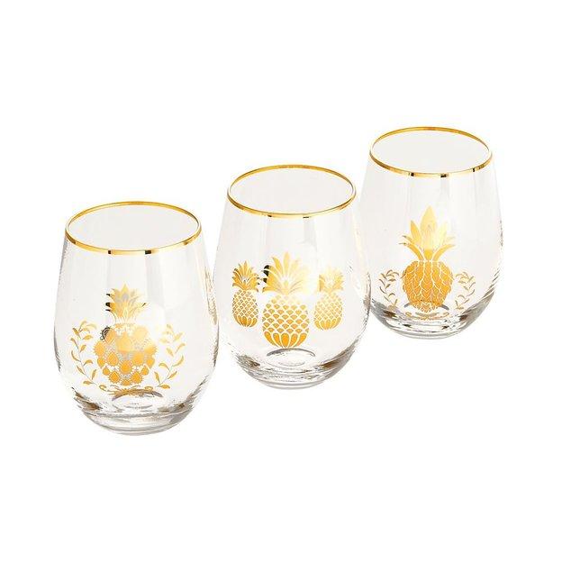 Gläser Ananas 3er Set