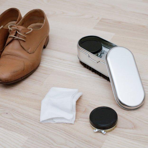 Brosse à chaussures avec cirages Deluxe Shoe Shine