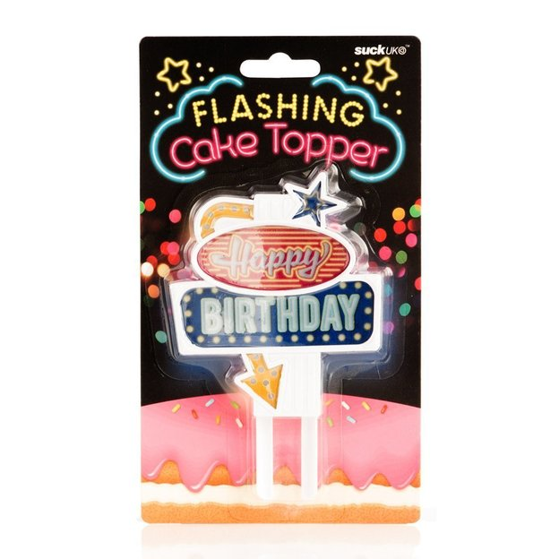 Kuchendekoration Flashing Cake Topper mit LED