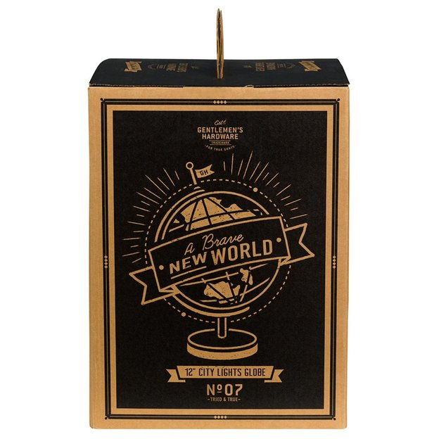 Gentlemen's Hardware Globus Lampe City Lights mit UK-Stecker