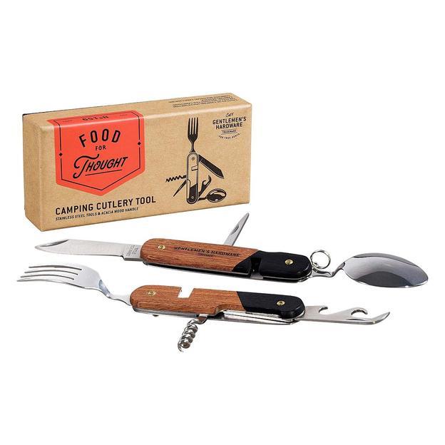 Services de poche Camping, couteau multifonction avec fourchette et cuillère