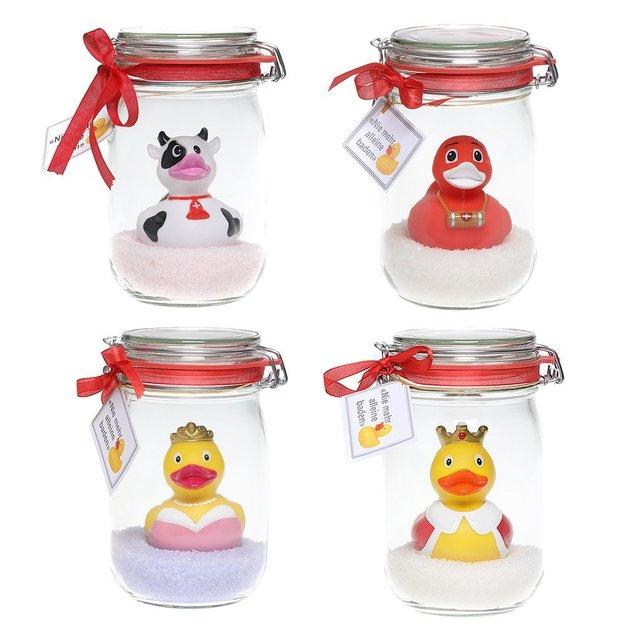 Canard de bain rigolo avec sel de bain