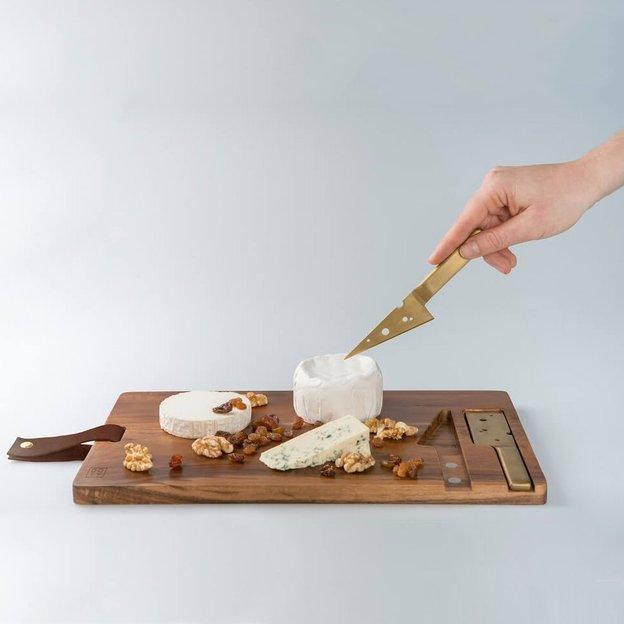 Käsebrett inkl. 2 Käsemessern Cheeseporn