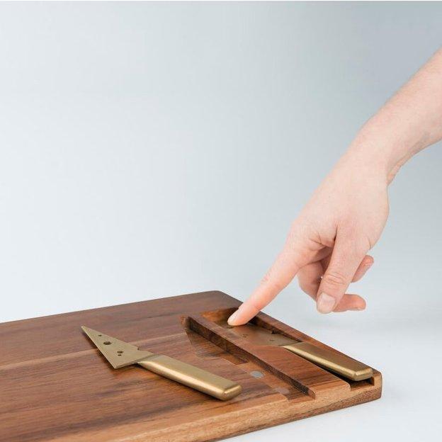 Planche à fromage Cheeseporn avec couteaux dorés DOIY